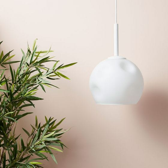 Edit Dimple Glass Ceiling Pendant Light - White