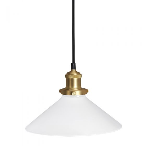 Edit August Large Glass Ceiling Pendant Light with Plug - Opal