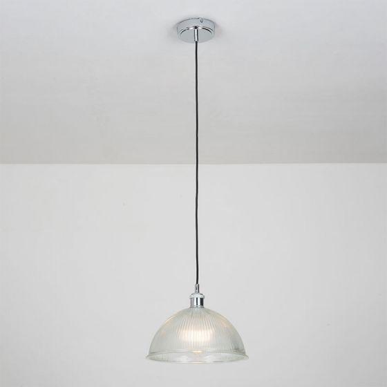 Edit Tavern Glass Ceiling Pendant Light - Chrome