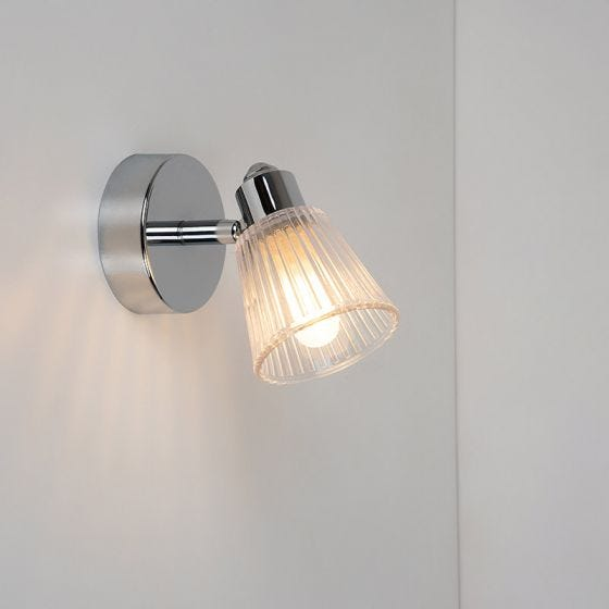 Edit Rain Bathroom Wall Light - Chrome