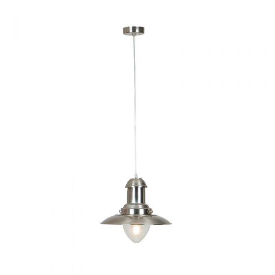 Edit Fisherman Ceiling Pendant Light - Satin Nickel