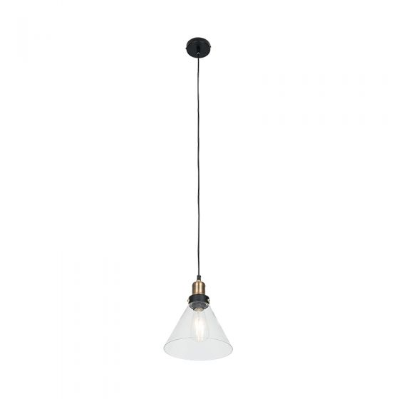 Edit Factory Glass Ceiling Pendant Light - Antique Brass