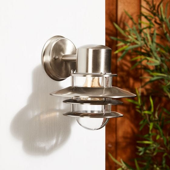 Edit Stage Outdoor Hanging Wall Light - Stainless Steel