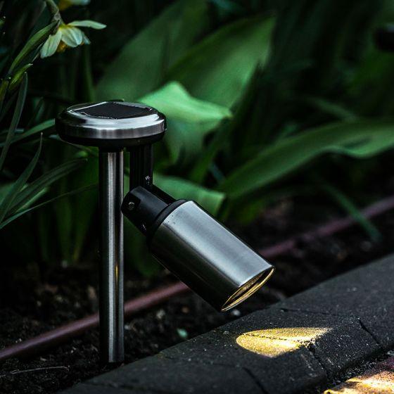 365 Solar LED Spotlight - Stainless Steel