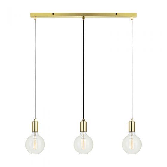 Sky 3 Light Bar Ceiling Pendant - Brass