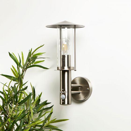 Edit Thurso Outdoor Wall Light with PIR Sensor - Stainless Steel