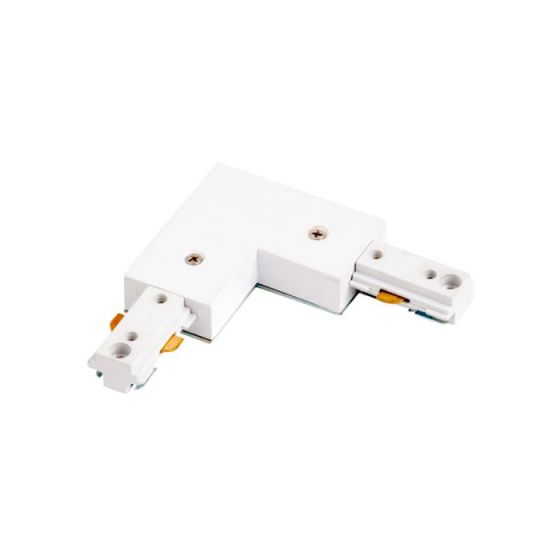 Robus 1 Circuit Track L-Connector - White