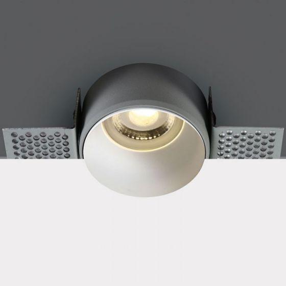 Decorative Trimless Fixed Downlight - White