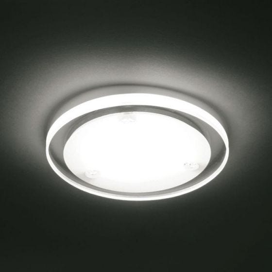 1W Daylight LED Dimmable Downlight - Frosted Glass