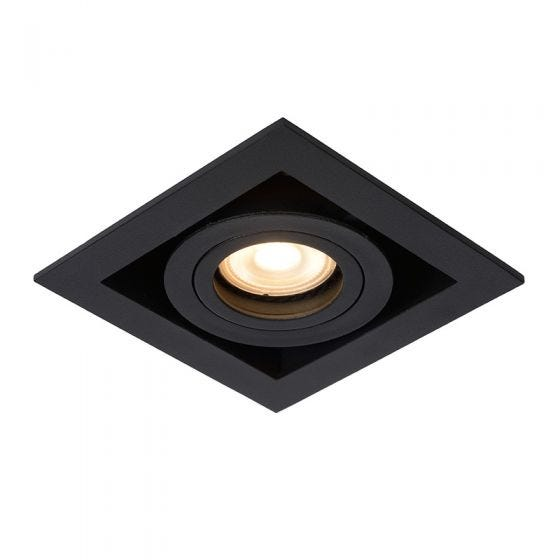Lucide Chimney Square Adjustable Downlight - Black