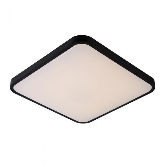 Lucide Polaris Square 40W LED Dim to Warm Flush Light with Remote Control