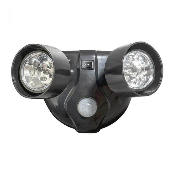 Battery Operated LED Twin Floodlight with PIR Sensor