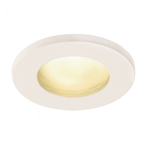 SLV Dolix IP65 Soffit Recessed Fixed Downlight - White