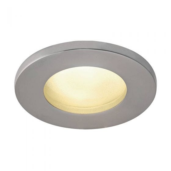 SLV Dolix IP65 Soffit Recessed Fixed Downlight - Chrome