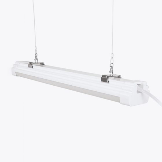 Pro 45W Cool White LED Weatherproof Batten with Microwave Sensor and Remote Control - 4ft Twin