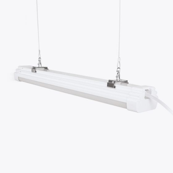 Pro 60W Cool White LED Weatherproof Batten with Microwave Sensor and Remote Control - 5ft Twin