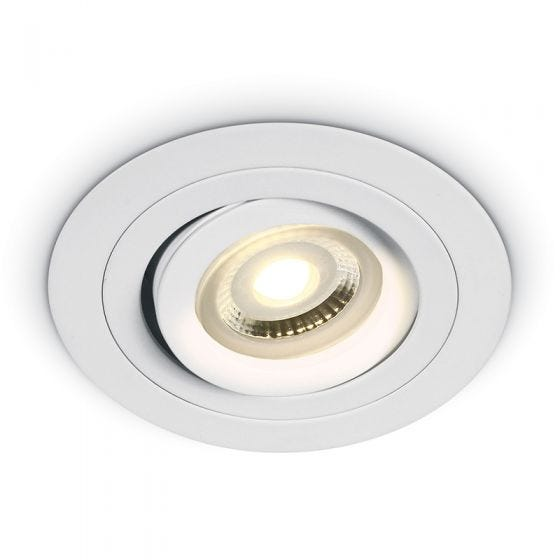 Bay Round Adjustable Downlight - White