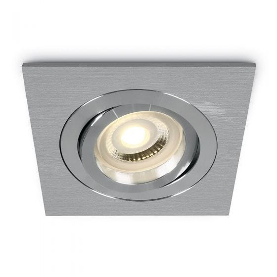 Bay Square Adjustable Downlight - Aluminium