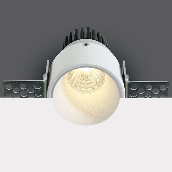 Trimless 3W Warm White LED Fixed Downlight - White