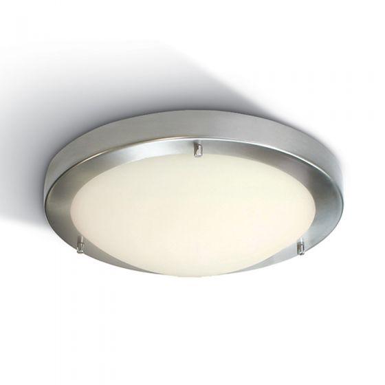 Cyclone 410 Flush Ceiling Light - Brushed Chrome