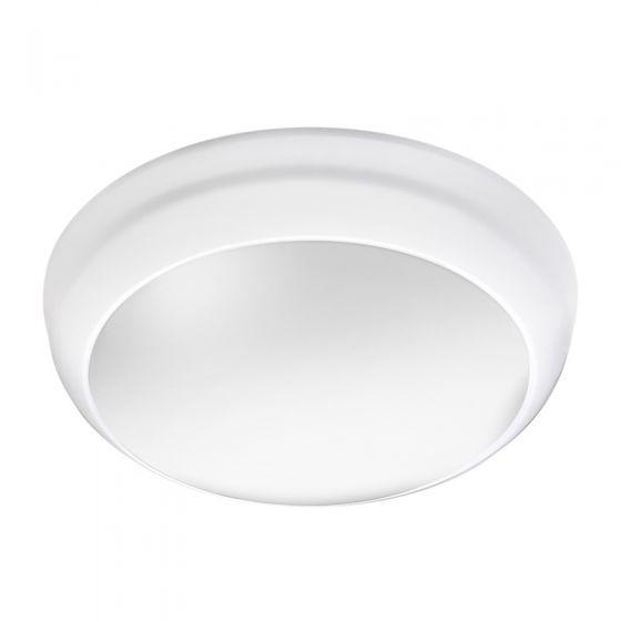 Lunar Eco 8W Cool White LED Flush Light  - White