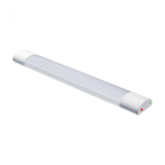 Tri-Colour 40W Colour Selectable LED Emergency Batten - 4ft Twin