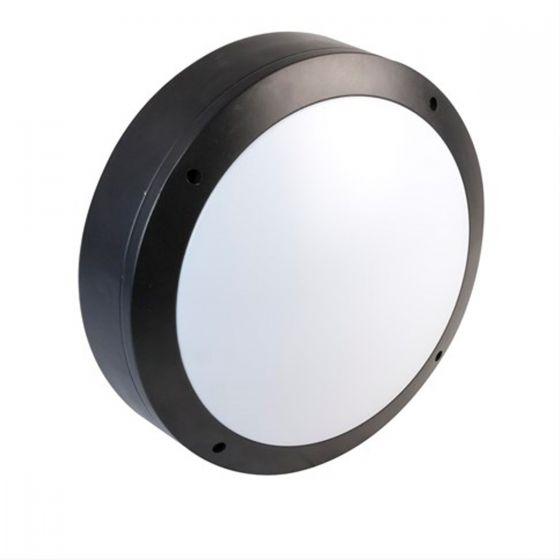 Alum 18W Daylight LED Outdoor Wall Light with Microwave Sensor - Black