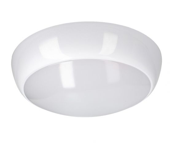 Eco 16W Daylight LED Flush Light with Microwave Sensor - White