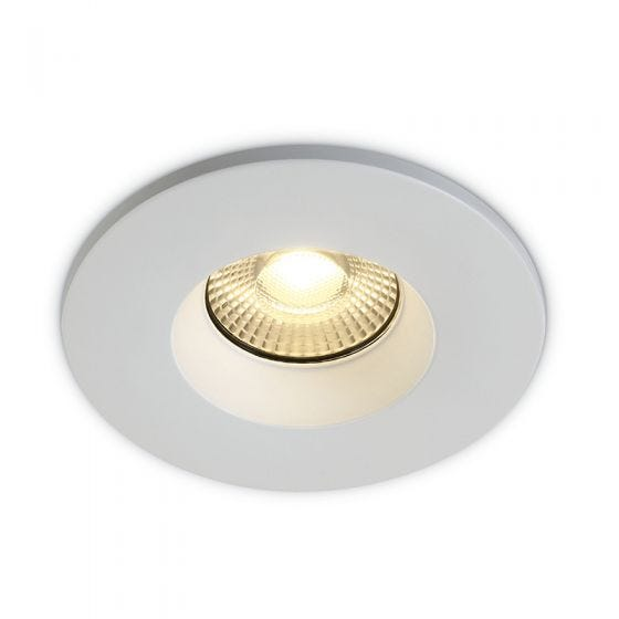 Perform 7W Colour Selectable Dimmable LED Fire Rated Fixed Recessed Downlight - White