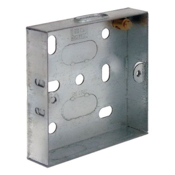 1 Gang Steel Knockout Box - 25mm