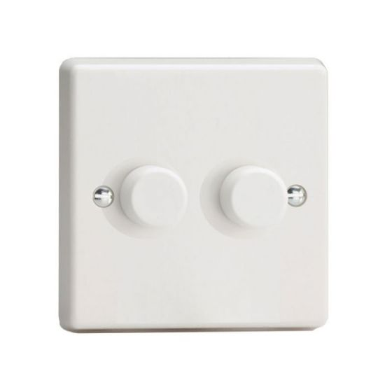 LED Compatible Dimmer 2 x 250W - White