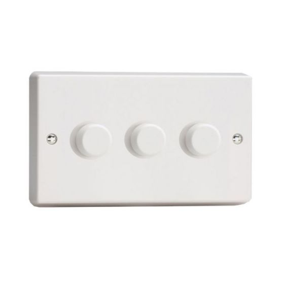 LED Compatible Dimmer 3 x 300W - White