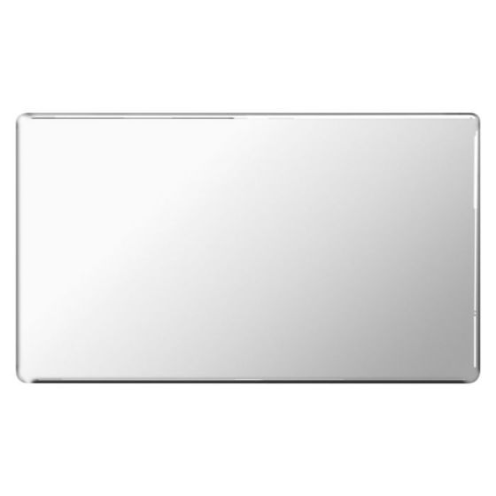 Polished Chrome Flat Plate 2 Gang Blanking Plate