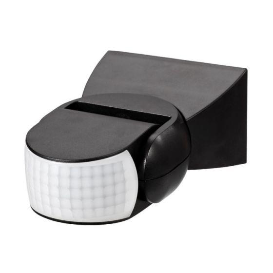 Forum Leda Wall Mounted Adjustable PIR Sensor - Black