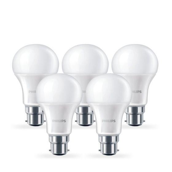 Philips 6W Corepro Warm White LED GLS Bulb - Bayonet Cap - Pack of 5