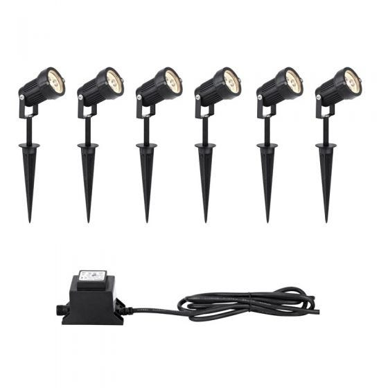 EasyFit 12v Garden Lights - LED Spotlight Kit - 6 Lights