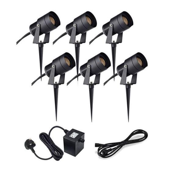 Garden 24V - 6W LED Spotlight Kit - 6 Lights