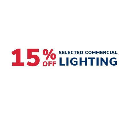 15% off selected commercial lighting