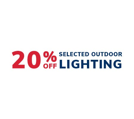 20% Off Selected Outdoor Lighting
